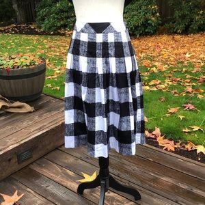 Talbots Pleated Midi Skirt